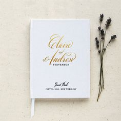 This Guest Book Is Customized With Your Names Wedding Date And Colors Are Also Included On The Spine
