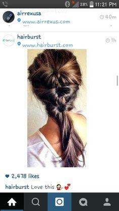 Ponytail inside a ponytail