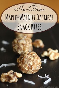 As if a delicious no-bake cookie met up with the best bowl of oatmeal ever! These No-Bake Maple-Walnut Oatmeal energy bites are easy and freezable, and loaded with complex carbs and protein for sustained energy! ~ from Two Healthy Kitchens at www.TwoHealthyKitchens.com