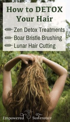 Detoxing the hair/scalp promotes healthier, voluminous and faster-growing hair #hair #DIY #detox
