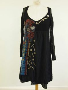 Save The Queen Black Quirky Dress STUNNING TRIM! Size XL -