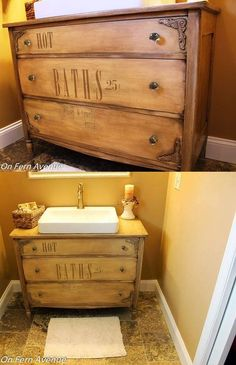 I picked the particular sink for a couple of reasons. I liked the style, the size and to be able to keep as much storage in the top drawers as possible. If we would have chosen a sink that was mounted inside the drawer area, we would've lost the entire top drawer.