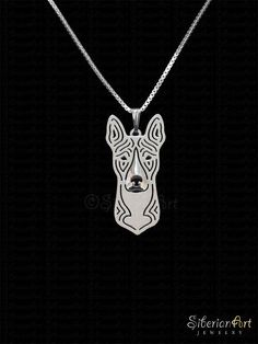 Basenji  sterling silver pendant and necklace