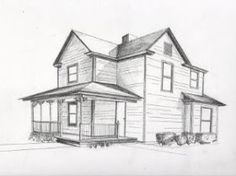 House drawing in perspective Exterior perspective drawing 37 Ideas 2 Point Perspective Drawing, Perspective Art, Two Point Perspective City, Perspective Building Drawing, House Sketch, House Drawing, House Design Drawing, Drawing Drawing, Drawing Tips