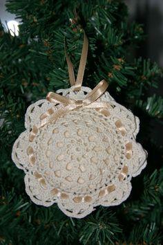 Doily sachet/ornament