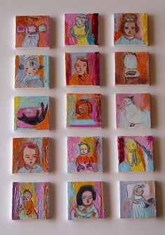 set tiny paintings By anagonzalezArt Easy Canvas Art, Abstract Canvas, Art And Illustration, Serial Art, Graffiti, Collaborative Art, Small Paintings, Small Art, Art Club