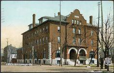 1905 ~ YMCA Peterborough Ontario, Street View, City, Photos, Vintage, Pictures, Cities, Vintage Comics