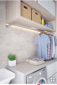 50 Small Laundry Room Design Ideas to Try Who says that having a small laundry room is a bad thing? These smart small laundry room design ideas will prove them wrong. Laundry Room Remodel, Laundry Closet, Laundry Room Organization, Laundry In Bathroom, Bathroom Storage, Laundry Room Drying Rack, Laundry Nook, Drying Room, Clothes Drying Racks