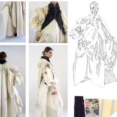 Fashion sketchbook csm finals for 2019 Fashion Design Sketchbook, Fashion Design Portfolio, Fashion Sketches, Sketchbook Layout, Csm Sketchbook, Fashion Books, Fashion Top, Coral Design, Clothing Sketches