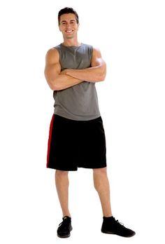 Red Bordered Black Shorts