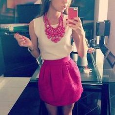 this outfit is tres chic. although, i'd probably use a different colored necklace..