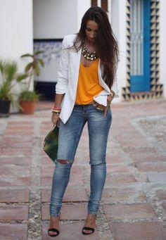2013 Top & heels: Zara/Jeans: Bershka/Blazer: Mango