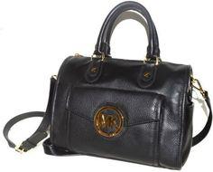 MICHAEL Michael Kors Margo Leather Satchel - Black #MichaelKors #Satchel