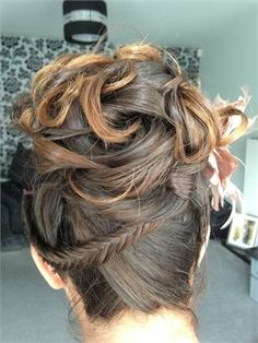 Bridesmaid up do with a little fish plait - The Perfect Look