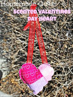 Valentines Day Heart -  Scented Heart that is so easy to make. You can even hand sew!