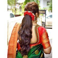 Indian Bun Hairstyles, South Indian Wedding Hairstyles, Bridal Hairstyle Indian Wedding, Bridal Hair Buns, Easy Hairstyles For Medium Hair, Wedding Hairstyles For Long Hair, Bride Hairstyles, Saree Hairstyles, Cool Hairstyles