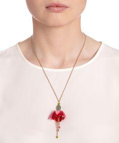 Fuchsia Flower Necklace