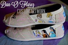 ce458753c50 LImited Time Sale Disney Princess Custom Painted by DanOFlorez
