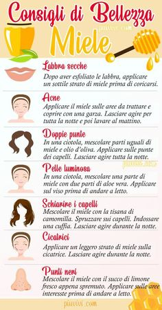 Beauty Tips Using Consigli di Bellezza Usando il Miele Honey: Benefits And Uses For The Beauty Of Leather And Hair. Thanks to its humectant and bactericidal properties, honey is an excellent beauty remedy for skin and hair. Beauty Care, Diy Beauty, Beauty Skin, Beauty Hacks, Beauty Ideas, Homemade Beauty, Beauty Advice, Face Beauty, Beauty Box
