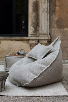 Scandinavian Interior Design: Sail Pouf Ottoman | Bean Bags, Beans and Bags
