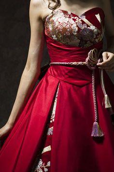 和柄ドレス jaglady