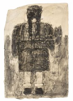 James Castle, found paper and soot, (1899-1977)