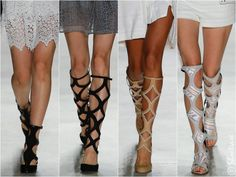 Rebecca Minkoff Spring 2016 Shoes Yep, I love a tall gladiator or short gladiator sandal & do appreciate the new cuts & color play that Rebecca Minkoff added to them. Although some could be considered gladiator pumps with their closed-toe & all.