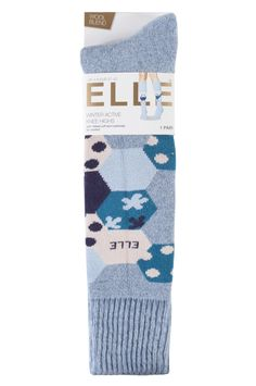 Wrap up, cosy up for the colder weather in these thickly cushioned Elle Wool Blend Winter Knee High Socks! These longer leg, warm ski boot style socks have an attractive decorative band around the upper calf and ribbed detail cuffs. The full terry loop cushioning of these Elle Wool Blend Winter Knee High Socks both warms and protects legs and feet, with a mix of wool, cotton and other fibres to provide the best balance of practicality.