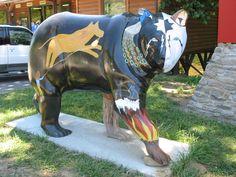 Cherokee Indian Bear    Cherokee Indian Reservation, NC