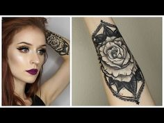 HOW TO: FAKE TATTOO WITH MAKEUP | Two Products - YouTube