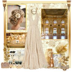 """Golden Wedding"" gorgeous maid of honour dress idea"