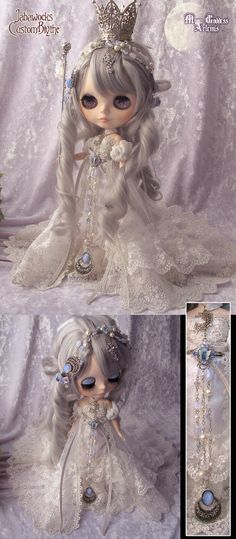 ROYAL CROWN ♚ Princess Blythe Doll Crown and Gown