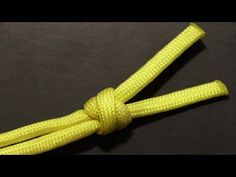 How To Tie A 2 Strand Matthew Walker Knot With Paracord - YouTube