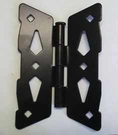 """Set of Two 8/"""" Traditional Double Strap Hinge for Wood Fence"""
