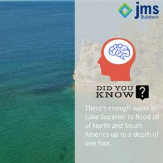Did you know Lake Superior contains 10% of all the earth's fresh surface water and there is enough water in Lake Superior (3,000,000,000,000,000--or 3 quadrillion-- gallons) to flood all of North and South America to a depth of one foot? #RealEstate #Trivia