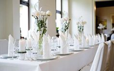 Table decoration, seating, flowers
