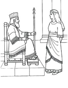 free bible coloring pages queen esther - Yahoo Image Search Results Queen Esther Bible, Book Of Esther, Bible Story Crafts, Bible Crafts For Kids, Vbs Crafts, Bible Stories, Free Bible Coloring Pages, Coloring Pages For Kids, Coloring Sheets
