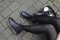 a807cfd62 Make today your stomping ground!⚠  Drmartens Black Leather Ankle Boots