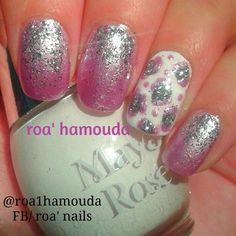 Bridal manicure #nails #nail #fashion #style #TagsForLikes #cute #beauty #beautiful #instagood #pretty #girl #girls #stylish #sparkles  #gliter #nailart #art  #photooftheday #love #shiny #polish #nailpolish #nailswag #nailartist #art #drawing #watermarble #marbling