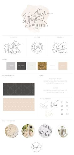New Brand Launch: Whiskey & White Events | brand design by Salted Ink | http://www.saltedink.com