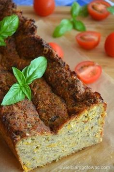 Pasztet z cukinii Veggie Recipes, Gluten Free Recipes, Healthy Recipes, Polish Recipes, Appetisers, Creative Food, Vegan Vegetarian, Food And Drink, Healthy Eating