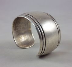 Vintage silver cuff jewelry by the Navajo Indian master artist Kenneth Begay!