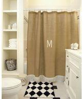 LOVE this burlap shower curtain!