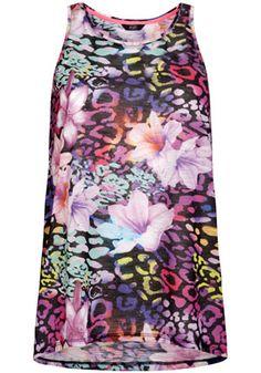 F&F Neon Tropical Animal Print Vest - £8 #FeelTheHeat