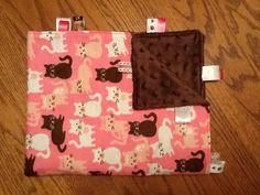 Cats Taggie Blanket by BlanketsbySheryl on Etsy, $15.00