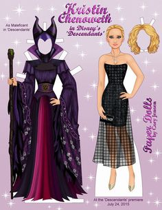 Paper Dolls By Cory has released a brilliant printable paper doll featuring everyone's favorite Disney villain, Maleficent. Disney Descendants stars several well known Disney actors including…