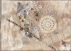 januari -08 | Work in progress a collage of old lace, fabric… | Flickr