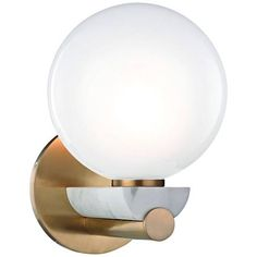 """Hudson Valley Boone 8 1/2"""" High Aged Brass LED Wall Sconce"""