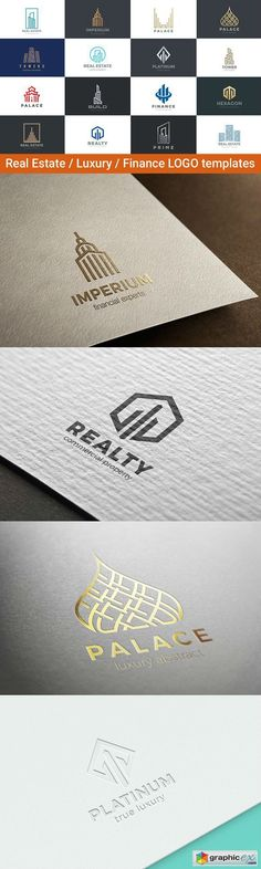 Real Estate Luxury Finance Logos