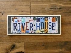 Great Wedding Presents, The Wedding Date, River House Decor, Recycled Gifts, Decorative Signs, Face Photo, License Plates, Wood Background, Home Signs